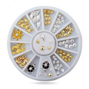Ocean Gleam Nail Charm Jewellery Silver and Gold - Revolution Nail Supplies