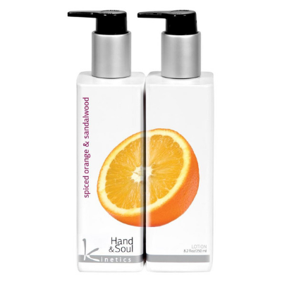 Kinetics Hand And Body Lotion Spiced Orange and Sandalwood 250ml - Revolution Nail Supplies