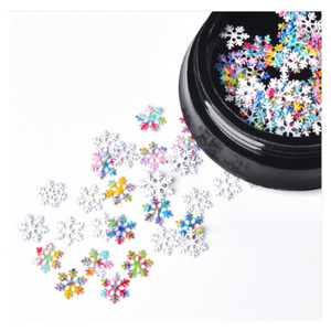 Snowflake Nail Charm Jewellery Rainbow Effect - Revolution Nail Supplies