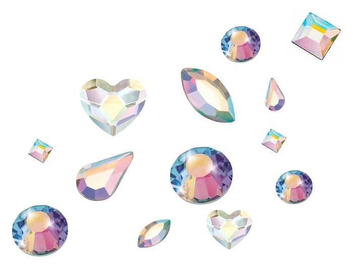 Preciosa Crystals (Shape Mix) - AB Pack of 100