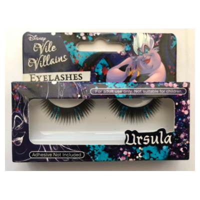 Disney Vile Villains Ursula Glitter Eyelashes - Revolution Nail Supplies