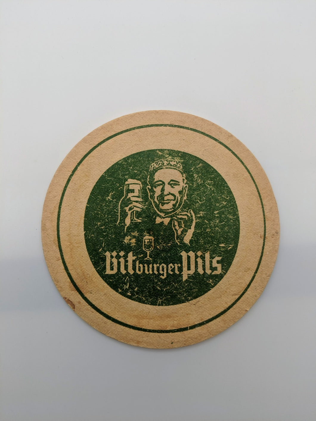 Vintage Beer Coaster Bitburger Pils Germany