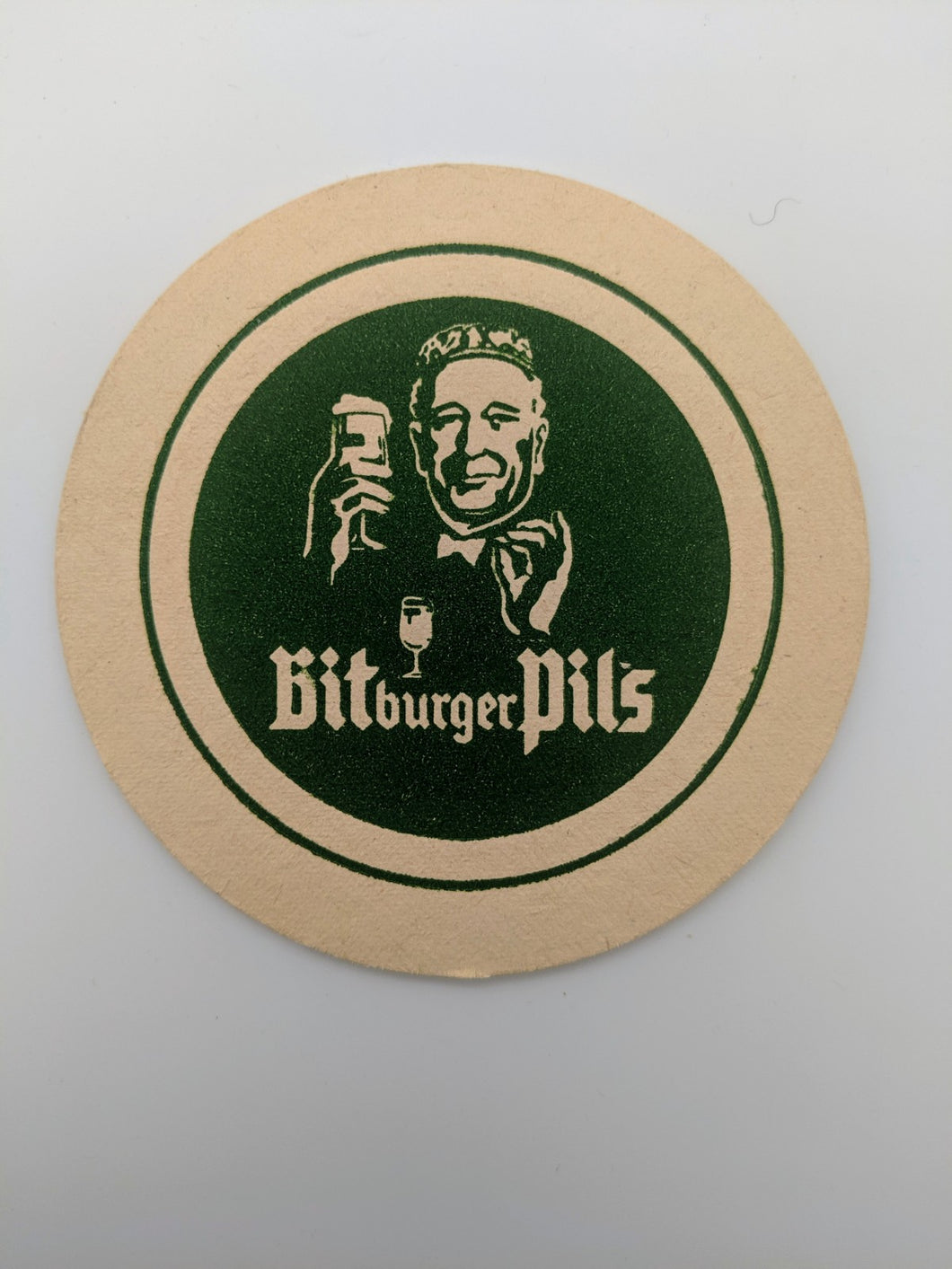 Vintage Beer Coaster Germany Bitburger Pils