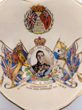 Load image into Gallery viewer, Heart Shaped Dish King Edward VIII Coronation 1937