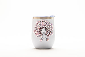 Afro Glam Carrie HOLIDAY BUNDLE Coffee, tea, stainless steel tumbler, wine tumbler