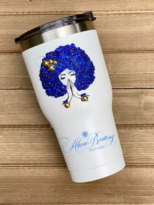 AFRO Glam 30oz. Stainless Steel Tumbler with Straw