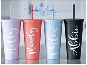 Afro Glam Mary Lou CLASSIC 22.oz Acrylic Tumbler.  Afrocentric, cold beverage, bling coffee, iced tea