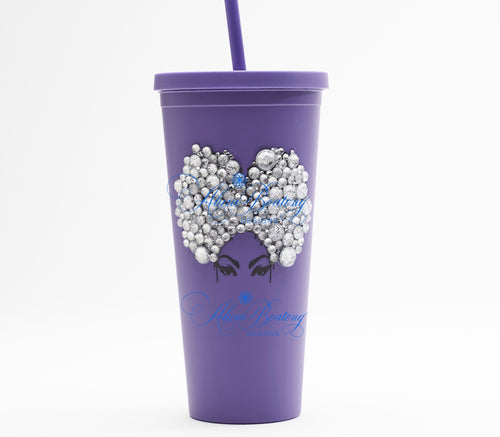 Afro Glam Priscilla CLASSIC 22.oz Acrylic Tumbler Afrocentric, cold beverage, bling coffee, iced tea