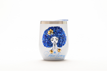 Load image into Gallery viewer, Afro Glam MARY LOU 12oz. Wine Tumbler