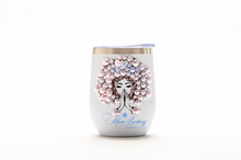 Load image into Gallery viewer, Afro Glam CARRIE Tumbler Set, Afrocentric, hot or cold beverage, bling coffee, cold drink, wine