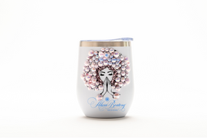 AFRO Glam Carrie Tumbler Set, 30oz, Stainless Steel Tumbler with Straw 12oz. wine / cocktail tumbler