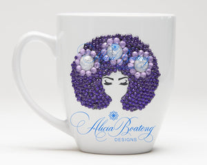 Afro Glam Layla HOLIDAY BUNDLE Coffee, tea, stainless steel tumbler, wine tumbler
