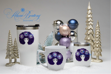 Load image into Gallery viewer, Afro Glam Layla HOLIDAY BUNDLE Coffee, tea, stainless steel tumbler, wine tumbler