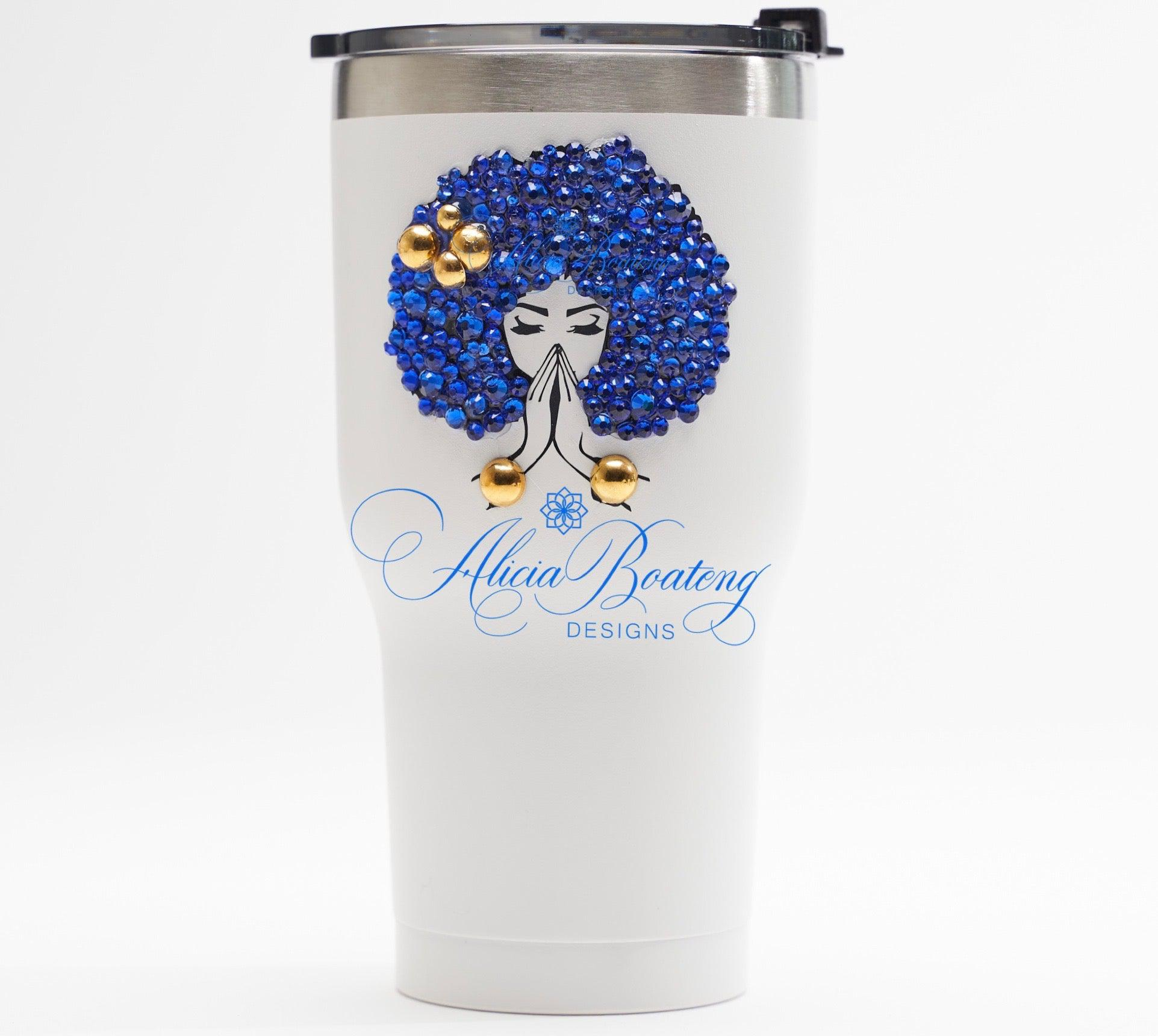 afro glam stainless steel tumbler