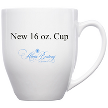 Load image into Gallery viewer, AFRO Glam Collection (Mary Lou)  Blue / Gold Empowering Women coffee tea cup bling cup