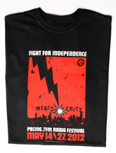 Load image into Gallery viewer, 2012 Radio Festival Mens Tee - 'Fight for Independence'