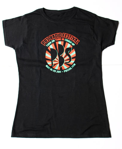 2011 Radio Festival Womens Tee - 'Turn On, Tune In, Cough Up'