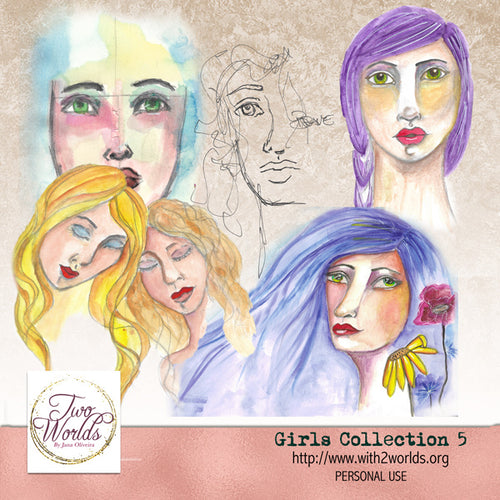Girls Collection 5 - 2Worlds Digi Scrap Supplies