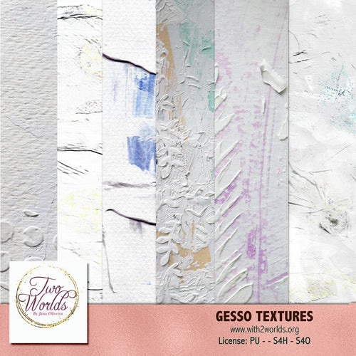 Gesso Textures 1 - 2Worlds Digi Scrap Supplies