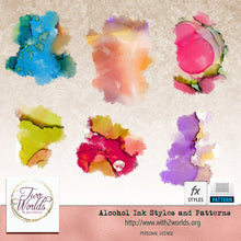 Load image into Gallery viewer, Alcohol Ink Styles - 2Worlds Digi Scrap Supplies