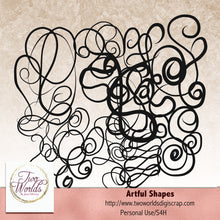 Load image into Gallery viewer, Artful Shapes - 2Worlds Digi Scrap Supplies