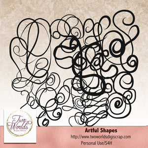 Artful Shapes - 2Worlds Digi Scrap Supplies