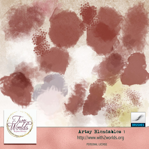 Artsy Blendables Dynamic Brushes - 2Worlds Digi Scrap Supplies