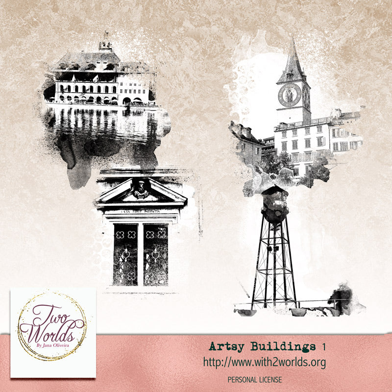 Artsy Buildings 1 - 2Worlds Digi Scrap Supplies