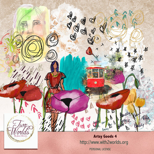 Artsy Goods 4 - 2Worlds Digi Scrap Supplies