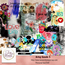 Load image into Gallery viewer, Artsy Goods 5 Digital Elements - 2Worlds Digi Scrap Supplies