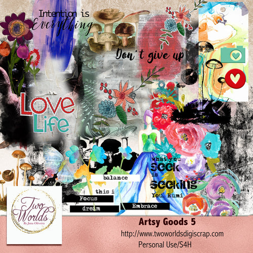 Artsy Goods 5 Digital Elements - 2Worlds Digi Scrap Supplies