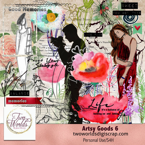 Artsy Goods 6 - 2Worlds Digi Scrap Supplies