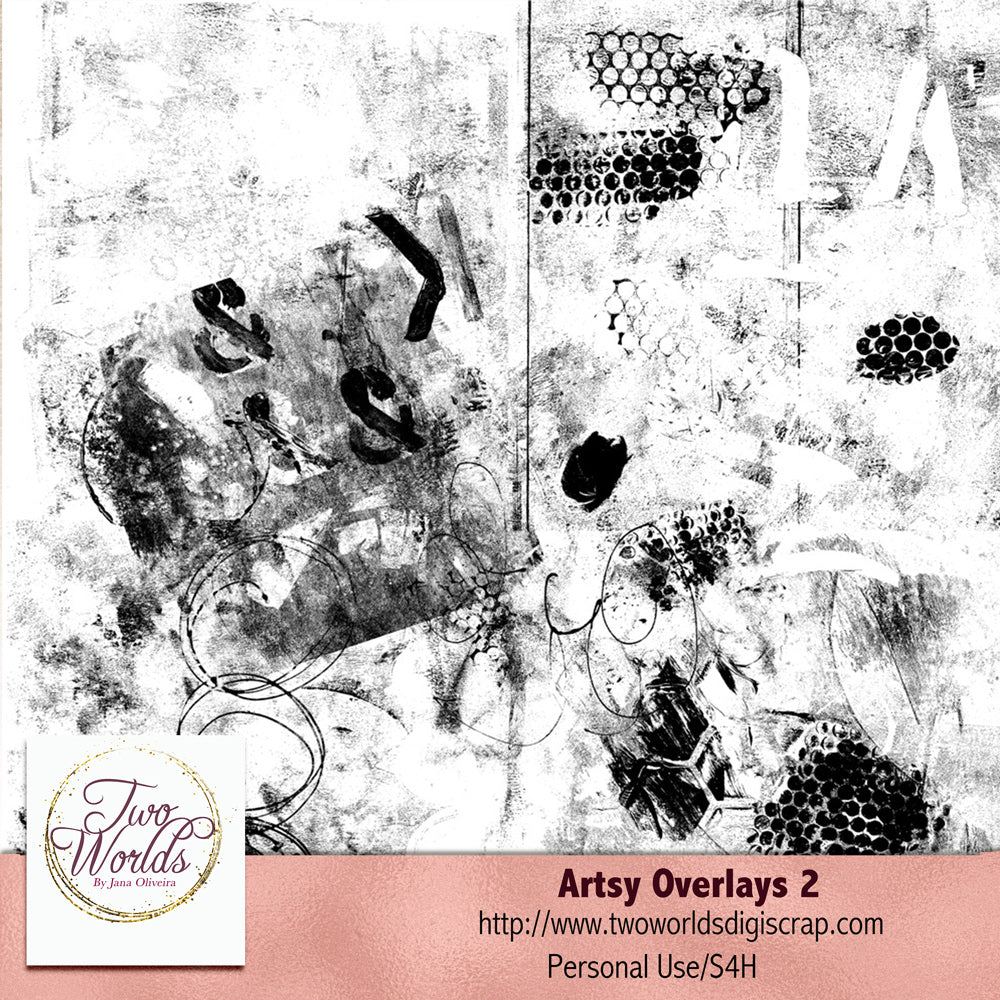Artsy Overlays 2 - 2Worlds Digi Scrap Supplies