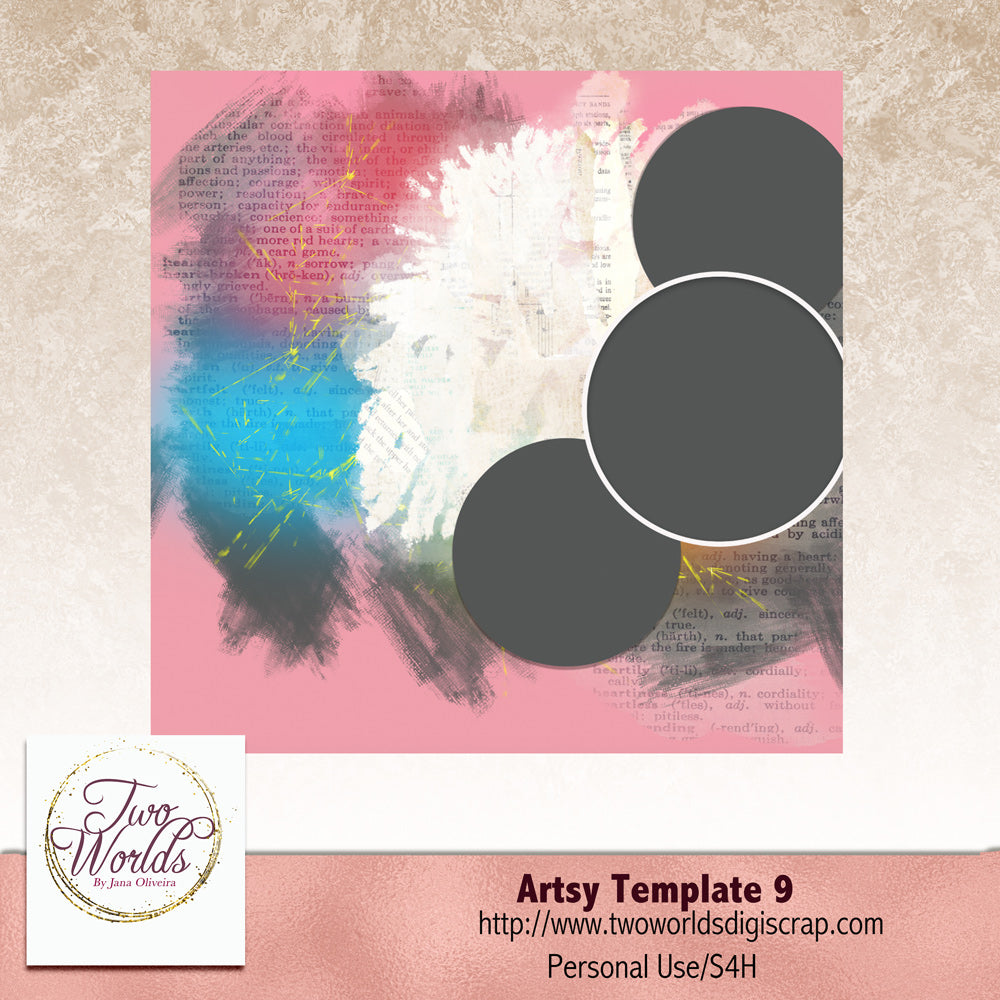 Artsy Template 9 - 2Worlds Digi Scrap Supplies