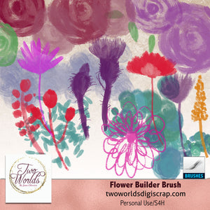 Flower Builder Brush - 2Worlds Digi Scrap Supplies