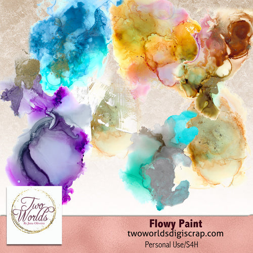 Flowy Paint - 2Worlds Digi Scrap Supplies