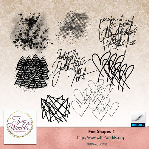 Fun Shapes 1 - 2Worlds Digi Scrap Supplies