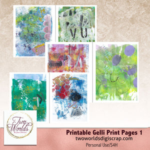Gelli Print Printables - 2Worlds Digi Scrap Supplies