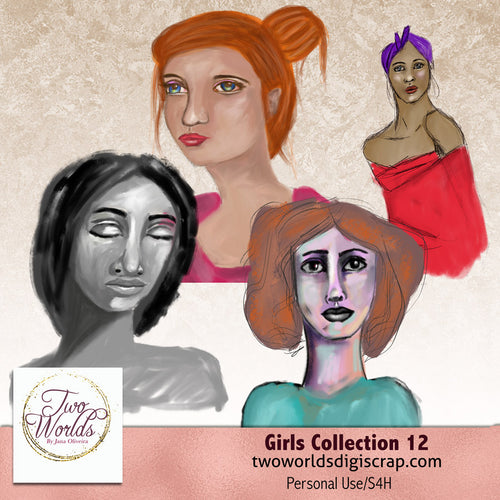 Girls Collection 12 - 2Worlds Digi Scrap Supplies