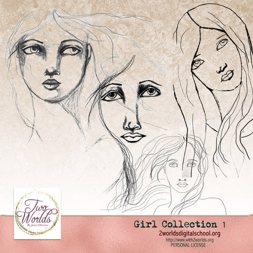 Girls Collection 1 - 2Worlds Digi Scrap Supplies