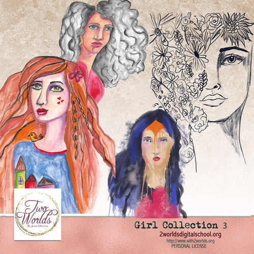 Girls Collection 3 - 2Worlds Digi Scrap Supplies