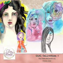 Load image into Gallery viewer, Girls Collection 4 - 2Worlds Digi Scrap Supplies