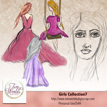 Load image into Gallery viewer, Girls Collection 7 - 2Worlds Digi Scrap Supplies