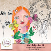 Load image into Gallery viewer, Girls Collection 11 - 2Worlds Digi Scrap Supplies