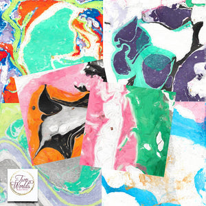 Marble Impasto Papers - 2Worlds Digi Scrap Supplies