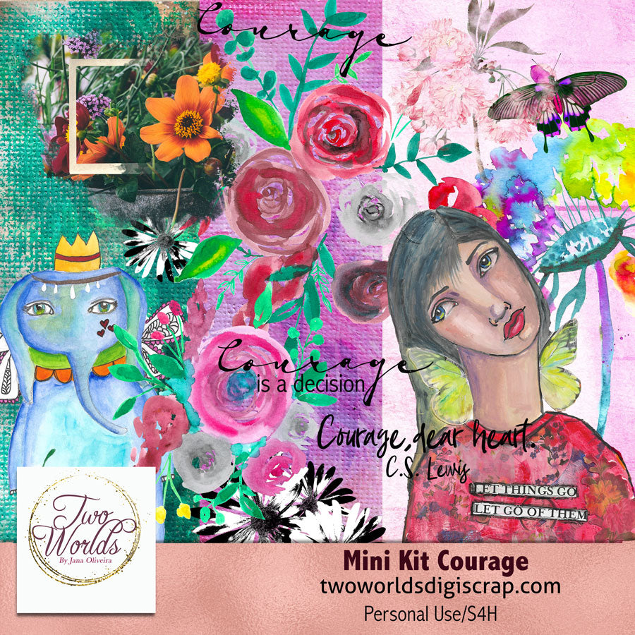 Mini Kit Courage - 2Worlds Digi Scrap Supplies