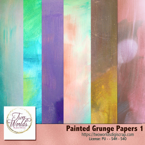 Painted Grunge Papers - 2Worlds Digi Scrap Supplies
