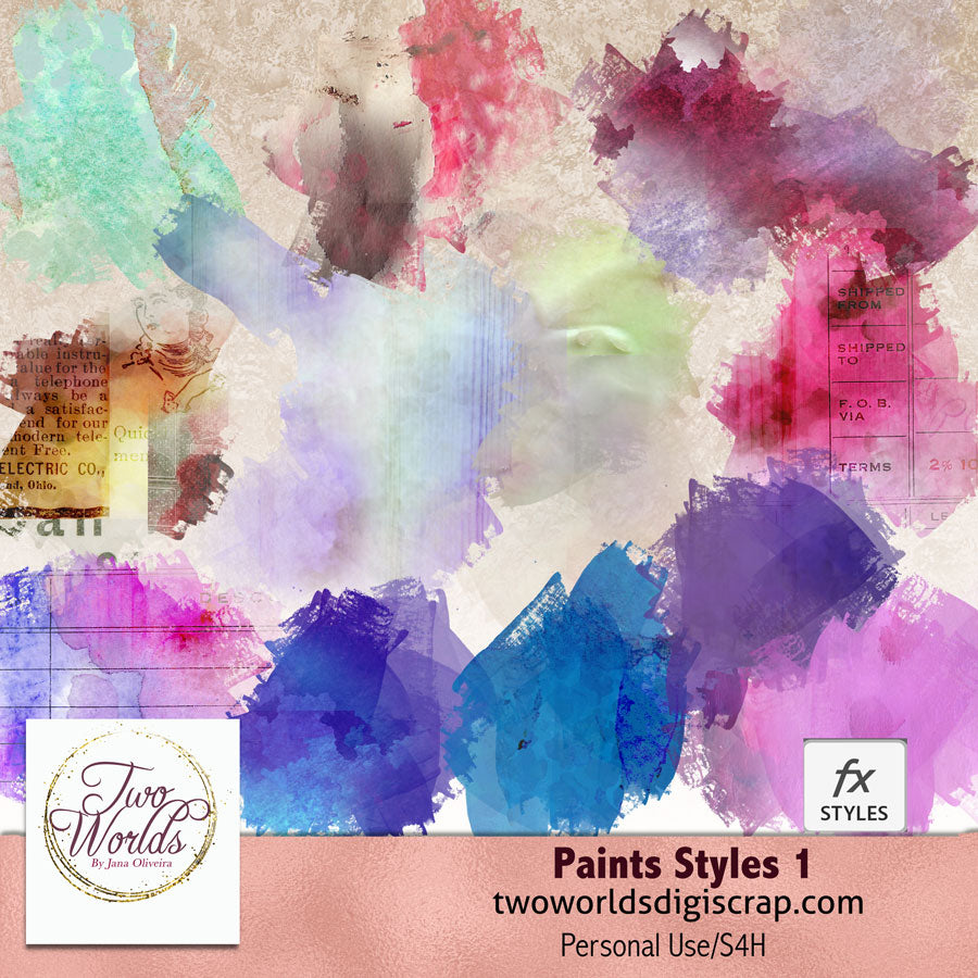 Paint Styles 1 - 2Worlds Digi Scrap Supplies