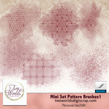 Load image into Gallery viewer, Mini Set Pattern Brush 1 - 2Worlds Digi Scrap Supplies