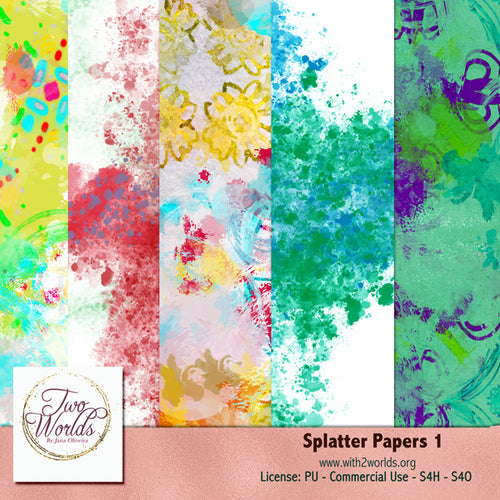 Splatter Paper - 2Worlds Digi Scrap Supplies
